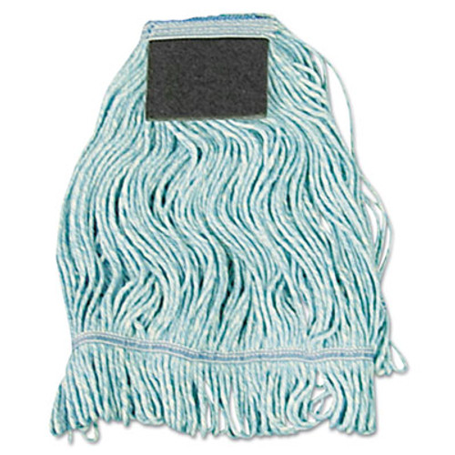 Boardwalk Mop Head  Loop-End  Cotton With Scrub Pad  Medium  12 Carton (UNS 902BL)