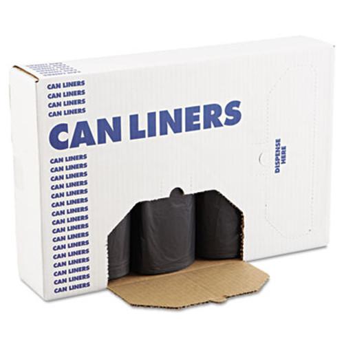 Boardwalk Low Density Repro Can Liners  45 gal  1 2 mil  40  x 46   Black  100 Carton (BWK 517)