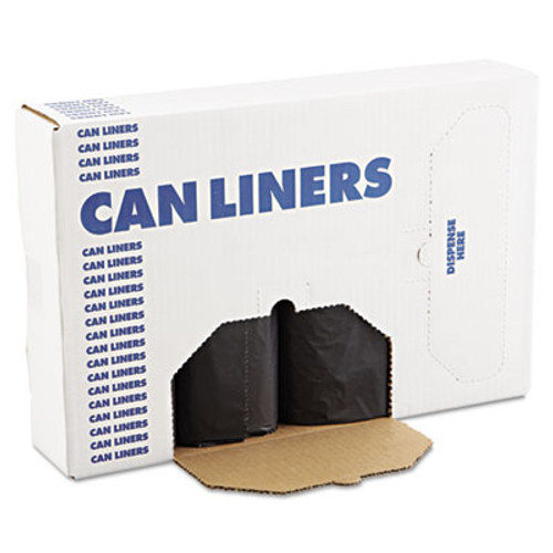 Boardwalk Low Density Repro Can Liners  56 gal  1 2 mil  43  x 47   Black  100 Carton (BWK 518)