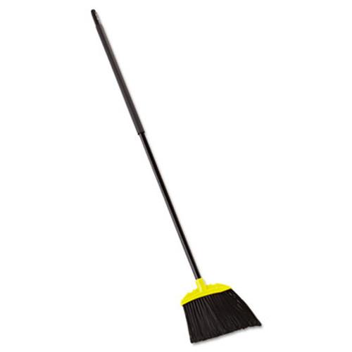 Rubbermaid Commercial Jumbo Smooth Sweep Angled Broom  46  Handle  Black Yellow  6 Carton (RCP 6389-06 BLA)