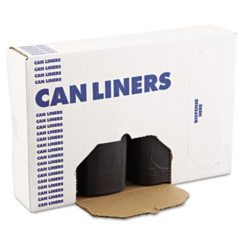 Boardwalk SH-Grade Can Liners, 38 x 58, 60gal, 1.2mil, Black, 10 Bags/Roll, 10 Rolls/CT (BWK 519)