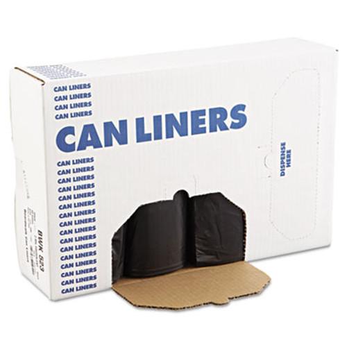 Boardwalk Low Density Repro Can Liners  60 gal  1 6 mil  38  x 58   Black  100 Carton (BWK 523)