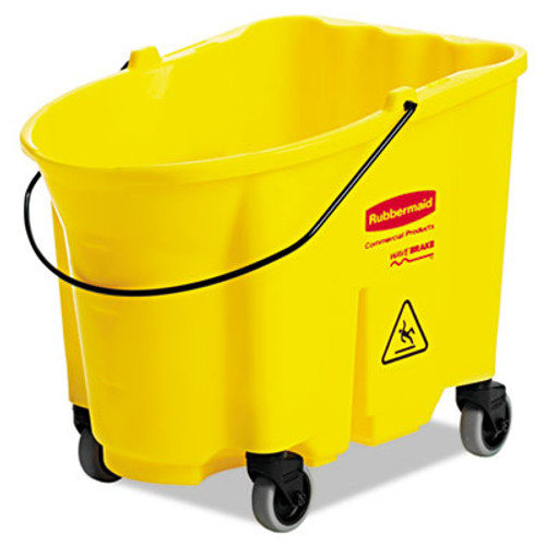 Rubbermaid Commercial WaveBrake Bucket, 8.75gal, Yellow (RCP 7570-88 YEL)