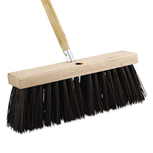 Boardwalk Street Broom Head  16  Wide  Polypropylene Bristles (BWK 73160)