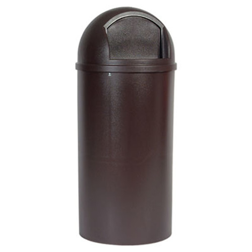 Rubbermaid Commercial Marshal Classic Container  Round  Polyethylene  25 gal  Brown (RCP 8170-88 BRO)