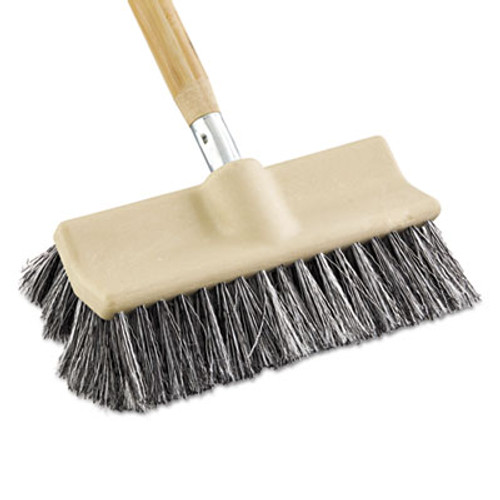 Boardwalk Dual-Surface Vehicle Brush  10  Long  Brown (BWK 8420)