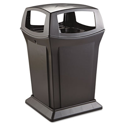 Rubbermaid Commercial Ranger Fire-Safe Container, Square, Structural Foam, 45gal, Black (RCP 9173-88 BLA)