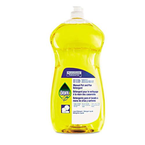 Dawn Professional Manual Pot Pan Dish Detergent  Lemon  38 oz Bottle  8 Carton (PGC 45113)