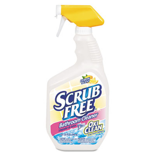 Arm & Hammer Scrub Free Soap Scum Remover, Lemon, 32oz Spray Bottle, 8/Carton (CDC 33200-35255)