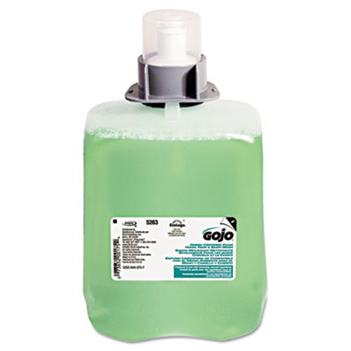 GOJO Green Certified Foam Hair & Body Wash, Cucumber Melon, 2000mL Refill, 2/Carton (GOJ 5263-02)