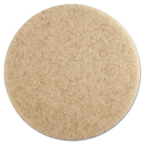 Boardwalk Natural Hog Hair Burnishing Floor Pads  19  Diameter  5 Carton (PAD 4019 NHE)