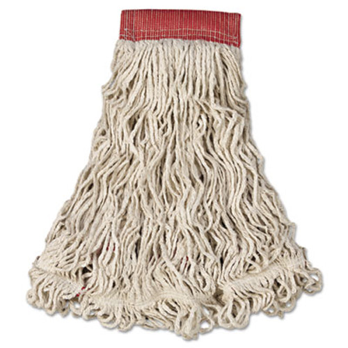 Rubbermaid Commercial Swinger Loop Wet Mop Head  Large  Cotton Synthetic  White  6 Carton (RCP C153 WHI)