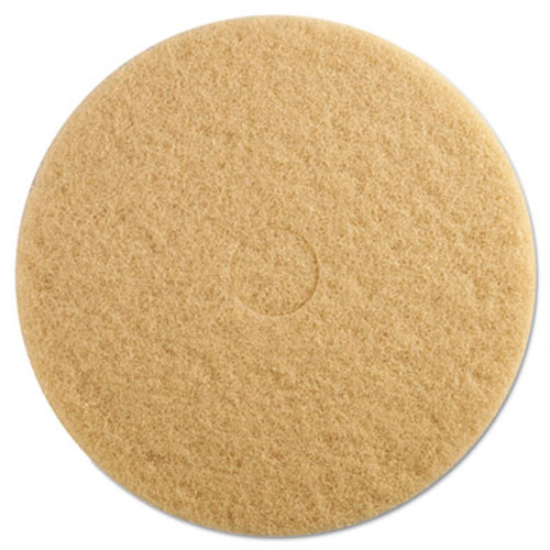 Boardwalk Tan Burnishing Floor Pads  19  Diameter  5 Carton (PAD 4019 ULT)