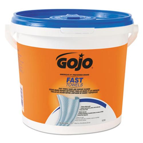 GOJO FAST TOWELS Hand Cleaning Towels  7 75 x 11  130 Bucket  4 Buckets Carton (GOJ 6298)