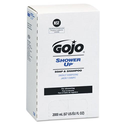 GOJO SHOWER UP Soap and Shampoo  Rose Colored  Pleasant Scent  2000 mL Refill  4 Carton (GOJ 7230)