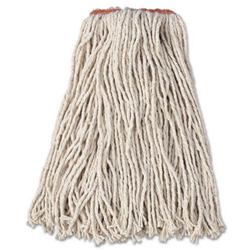 Rubbermaid Commercial Premium Cut-End Cotton Wet Mop Head  16oz  White  1  Orange Band  12 Carton (RCP F116-12)