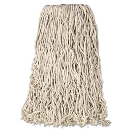 Rubbermaid Commercial Premium Cut-End Cotton Wet Mop Head  24oz  White  1  Orange Band  12 Carton (RCP F118-12)