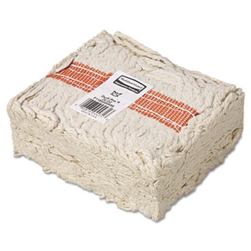 """Rubbermaid Commercial Premium Cut-End Cotton Wet Mop Head, 24oz, White, 1"""" Orange Band, 12/Carton (RCP F118-12)"""