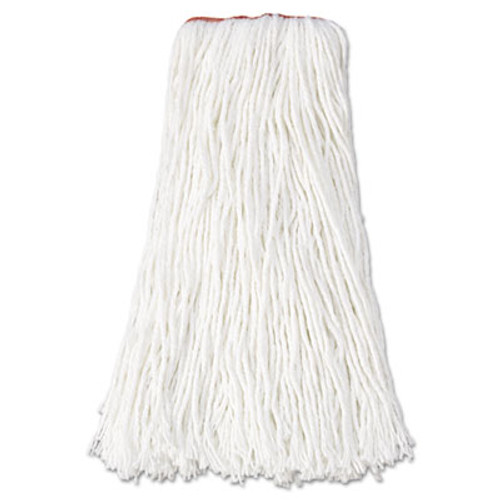 Rubbermaid Commercial Premium Cut-End Rayon Mop Head  16oz  White  1  Orange Band  12 Carton (RCP F416 WHI)