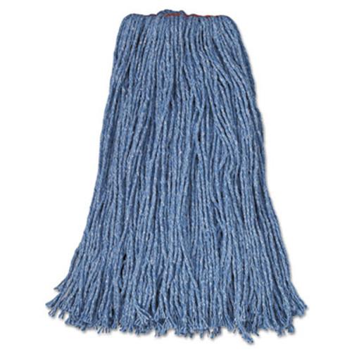 Rubbermaid Commercial Cotton Synthetic Cut-End Blend Mop Head  24 oz  1  Band  Blue  12 Carton (RCP F518-12 BLU)