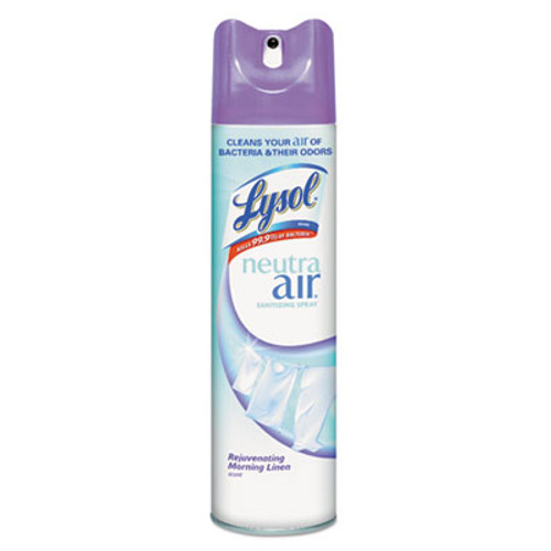 LYSOL Neutra Air Sanitizing Spray, Rejuvenating Morning Linen, 10oz Aerosol, 12/Carton (REC 79196)