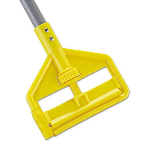 Rubbermaid Commercial Invader Fiberglass Side-Gate Wet-Mop Handle, 1 dia x 60, Gray/Yellow (RCP H146)
