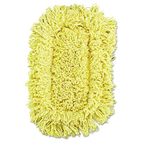 Rubbermaid Commercial Trapper Looped-End Dust Mop Head  12 x 5  Yellow  12 Carton (RCP J151-12)