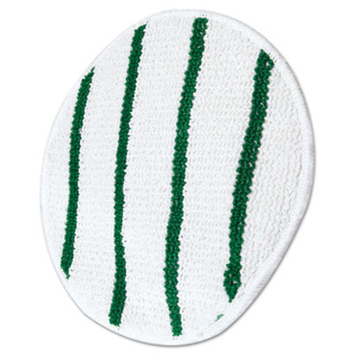 Rubbermaid Commercial Low Profile Scrub-Strip Carpet Bonnet  17  Diameter  White Green (RCP P267)
