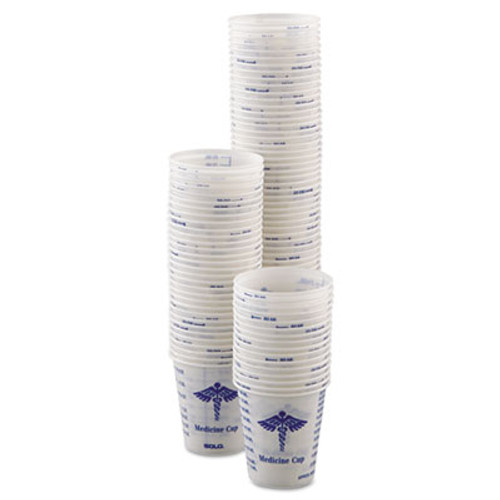 Dart Paper Medical   Dental Graduated Cups  3oz  White Blue  100 Bag  50 Bags Carton (SCC R3)