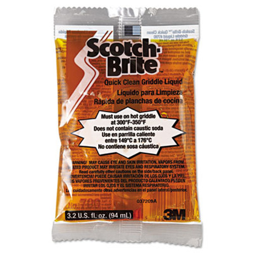 Scotch-Brite PROFESSIONAL Quick Clean Griddle Liquid  3 2oz Packet  40 Carton (MCO 29603)