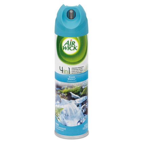 Air Wick Aerosol Air Freshener  Fresh Waters  8 oz Aerosol  12 Carton (REC 77002)