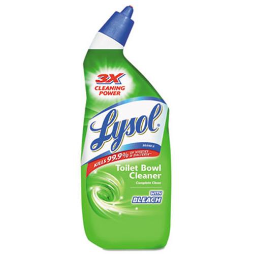 LYSOL Brand Disinfectant Toilet Bowl Cleaner with Bleach, Liquid, 24oz Bottle (REC 75055)