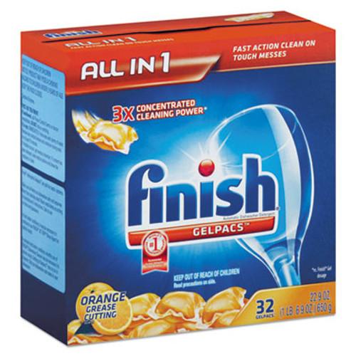 FINISH Dish Detergent Gelpacs  Orange Scent  32 Box (REC 81053)