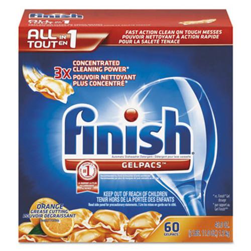 FINISH Dish Detergent Gelpacs  Orange Scent  54 Box (REC 81181)