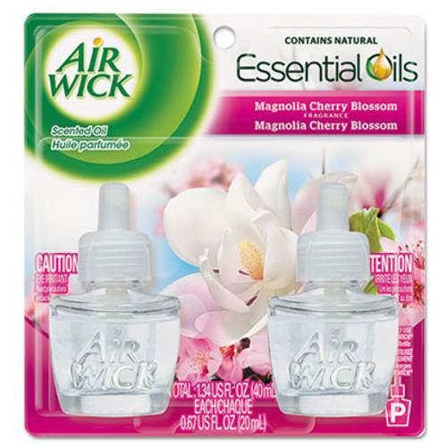 Air Wick Scented Oil Refill, Calming - Magnolia & Cherry Blossom, .67oz, Pink, 2/Pack (REC 80095)
