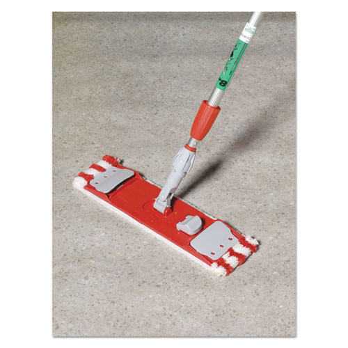 Unger Microfiber Mop Head  16 x 5  Medium-Duty 7mm Pile  Red White (UNG MD40R)