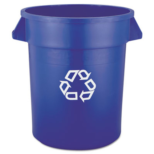 Rubbermaid Commercial Brute Recycling Container, Round, 20 gal, Blue (RCP 2620-73 BLU)
