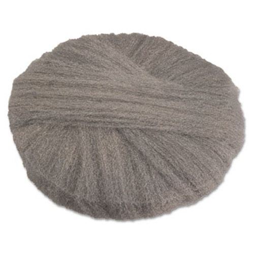 GMT Radial Steel Wool Pads  Grade 0  fine   Cleaning   Polishing  17 in Dia  Gray (GMA120170)
