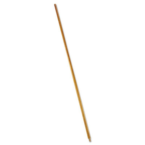 "Rubbermaid Commercial Wood Threaded-Tip Broom/Sweep Handle, 60"", Natural (RCP 6361)"