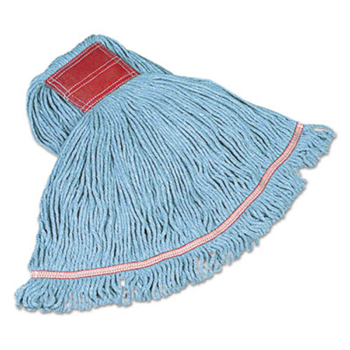Rubbermaid Commercial Swinger Loop Wet Mop Heads  Cotton Synthetic  Blue  Large (RCP C153 BLU)