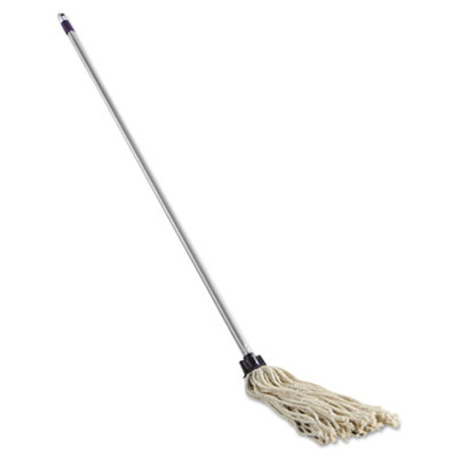 Rubbermaid Commercial Cotton Mop/Handle Combination, 46-Inch Handle, 8 Oz White Mop Head, 4/Carton (RCP G042-04)