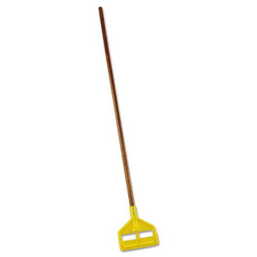 Rubbermaid Commercial Invader Wood Side-Gate Wet-Mop Handle  54   Natural Yellow (RCP H115)