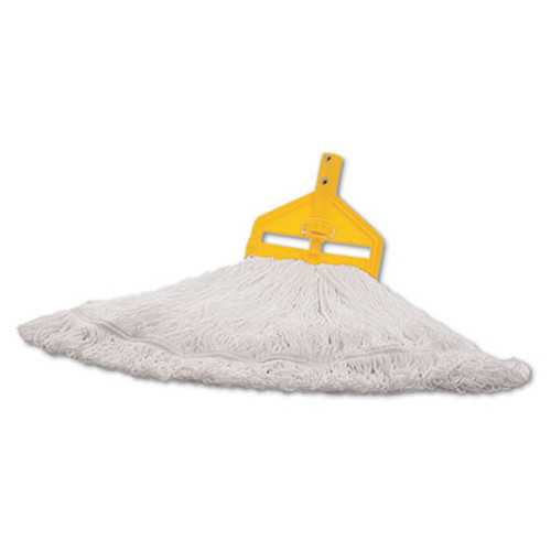 Rubbermaid Commercial Finish Mop Heads  Nylon  White  Large (RCP T201-06)