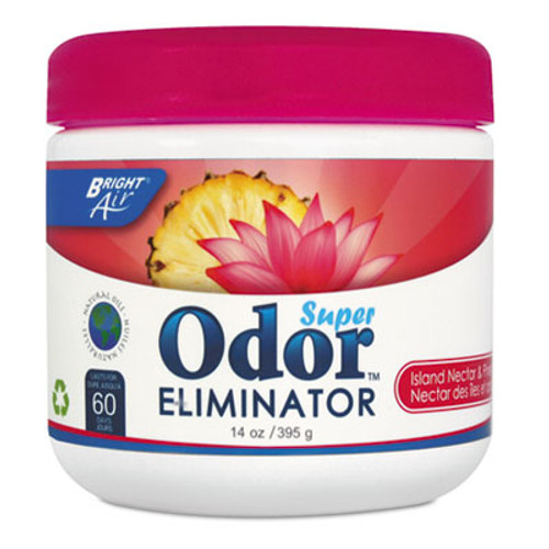 BRIGHT AirA Super Odor Eliminator, Island Nectar and Pineapple, Pink, 14 oz (BRI 900114)