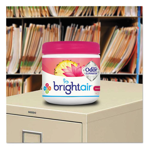 BRIGHT Air Super Odor Eliminator  Island Nectar and Pineapple  Pink  14 oz (BRI 900114)