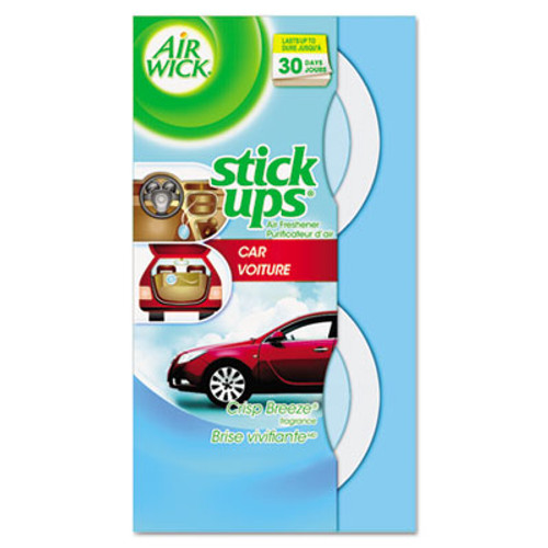 Air Wick Stick Ups Car Air Freshener  2 1 oz  Crisp Breeze (REC 85823)