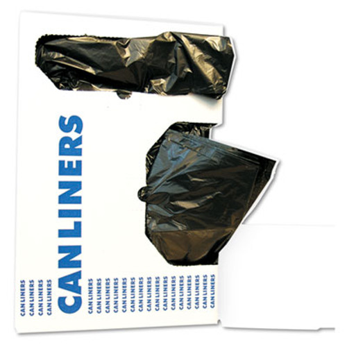 Boardwalk Low-Density Waste Can Liners  10 gal  0 35 mil  24  x 23   Black  500 Carton (BWK 2423L)