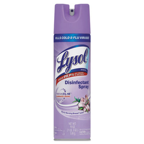 LYSOL Brand Disinfectant Spray, Early Morning Breeze Scent, 19oz Aerosol (REC 80834)