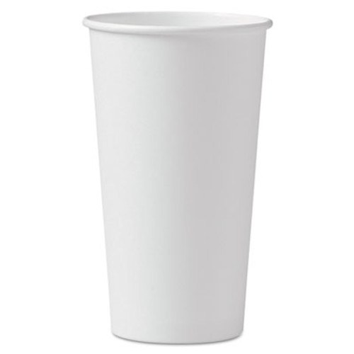 Dart Polycoated Hot Paper Cups  20 oz  White  600 Carton (SCC 420W)