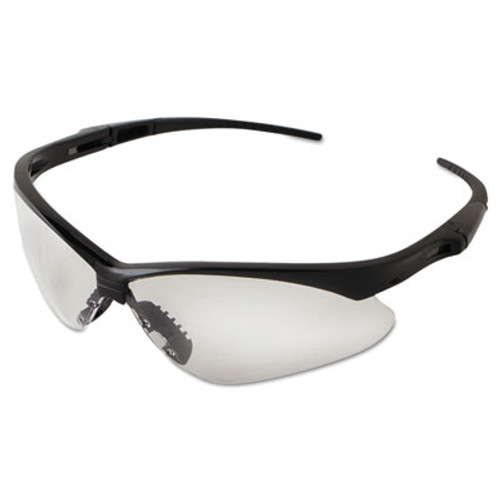 Jackson Safety* Nemesis Safety Glasses, Black Frame, Clear Lens (KCC 25676)